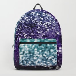 Aqua Purple Ombre Glitter #2 #decor #art #society6 Backpack