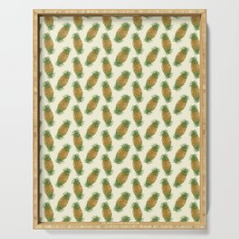 Genetically Engineered Pineapple Pattern Serving Tray