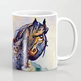 Wild Horse in Sea of Grass watercolor by CheyAnne Sexton Coffee Mug