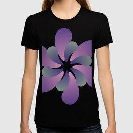 Purple ombre flower spiral T-shirt