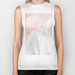 Marchionne Bianco & Silvec Rosa marble soft pink Biker Tank