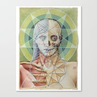 sacred geometry Canvas Prints featuring Sacred Geometry by David Birkey