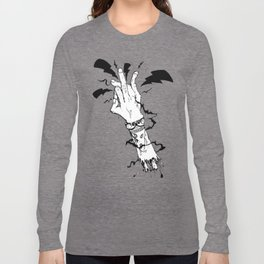Electric Gang Signs! (B&W) Long Sleeve T-shirt