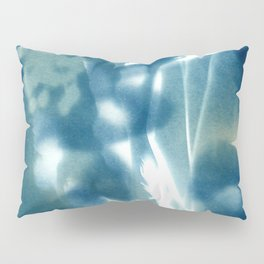 Fragments of the Past (13), art print, collage, blue print, wall art, wall decor, home decor Pillow Sham