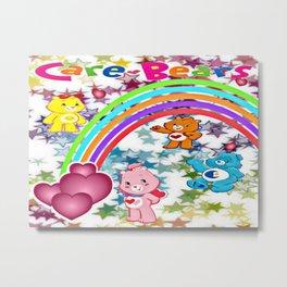 Care Bears Rainbow and Stars Metal Print