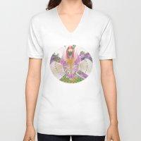 olivia joy V-neck T-shirts featuring Joy by CrismanArt