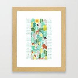 forest friends calendar 2015 mountain fresh Framed Art Print