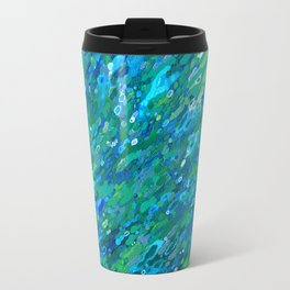 Shades Of Blue Waterfall Travel Mug