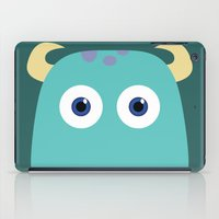 pixar iPad Cases featuring PIXAR CHARACTER POSTER - Sulley - Monsters, Inc. by Marco Calignano