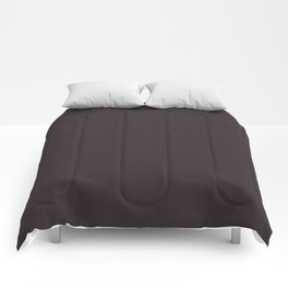 Solid Dark Charcoal Grey Color Comforters