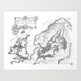 HC SVNT DRACONE Art Print