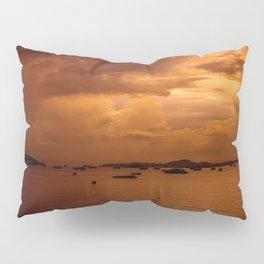 A colorful sundown above the beach of Pattaya Pillow Sham