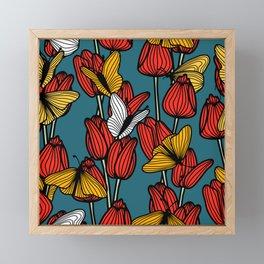 Butterfly Garden Framed Mini Art Print