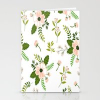 flower pattern Stationery Cards featuring Flower Pattern by Jenna Davis Designs
