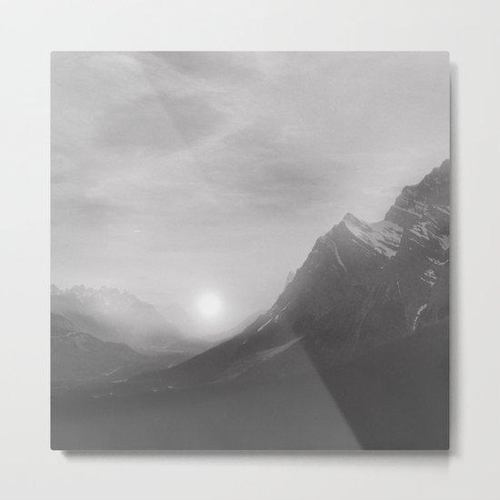 Pastel vibes 08 Black and White Metal Print