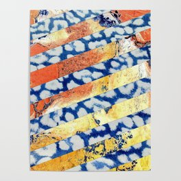 Inverted Leopard and Orange Marble Poster