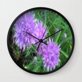Violet Flower Wall Clock