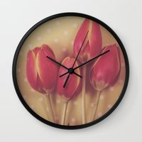 antique Wall Clocks featuring Antique Tulips by Jessica Torres Photography
