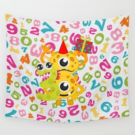 Birthday Monsters 3rd Birthday Wall Tapestry
