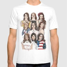 LDR Wallpaper MEDIUM White Mens Fitted Tee