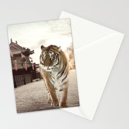 Tiger Mattepainting Stationery Cards