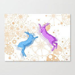 Mad March Hares Canvas Print