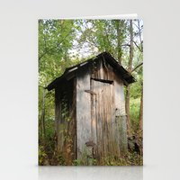 toilet Stationery Cards featuring Outdoor toilet by jim snyders photography