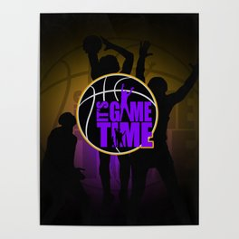 It's Game Time - Purple & Gold Poster