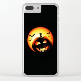 Smile Of Scary Pumpkin Clear iPhone Case