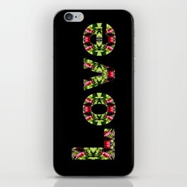 Typography Love iPhone Skin