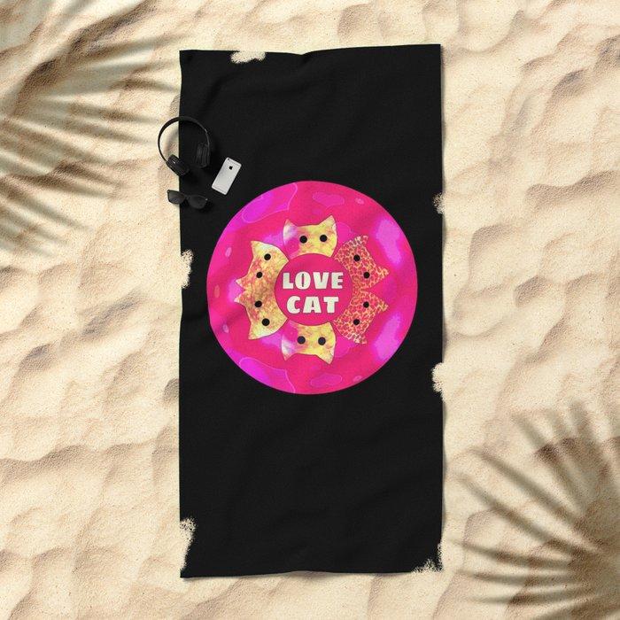 cat-91 Beach Towel
