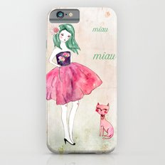Pink cat Slim Case iPhone 6s
