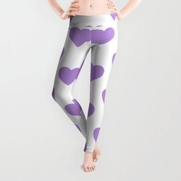 Hearts (Lavender & White Pattern) Leggings