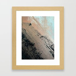 Landslide: a pretty, minimal abstract piece in pink, and blues Framed Art Print
