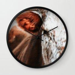 Cow Closeup Wall Clock