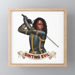 Paladin: Smiting Evil Framed Mini Art Print