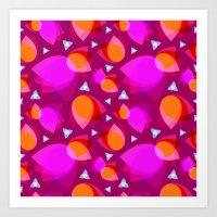 Abstract petals Art Print