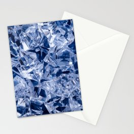 Ice background Stationery Cards