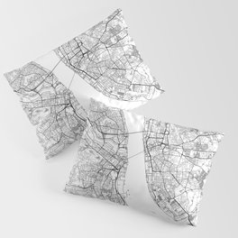 Liverpool Map White Pillow Sham