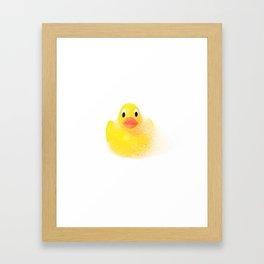 yellow rubber duck ;) Framed Art Print