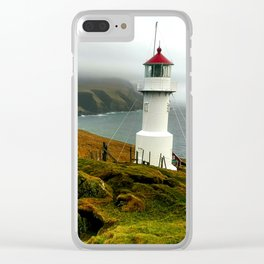 Mykines Lighthouse Clear iPhone Case