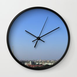 Clear sky cityscape. Admiralty building and winter palace. Wall Clock