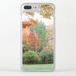 Misty Autumn Estate - 35mm film Clear iPhone Case