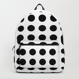 Simply Polka Dots in Midnight Black Backpack