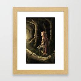 Little Red Ridinghood Framed Art Print