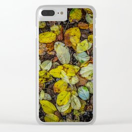 Yellow autumn Clear iPhone Case