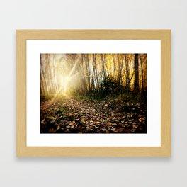 Walking cross autumn Framed Art Print