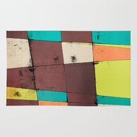 hot air balloon Area & Throw Rugs featuring Hot Air Balloon II by Monty