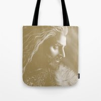 thorin Tote Bags featuring Thorin by Christine Tromop