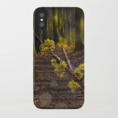 Walking through the forest in early spring Slim Case iPhone X